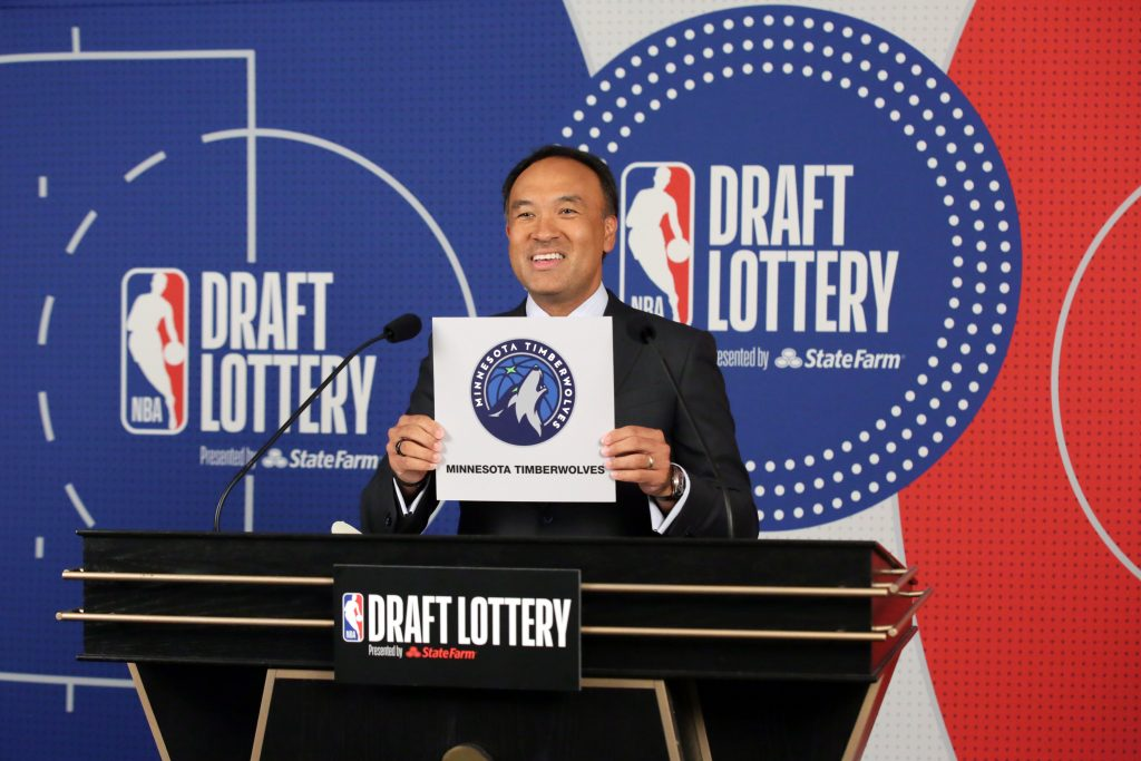 timberwolves win nba draft lottery to gain top overall